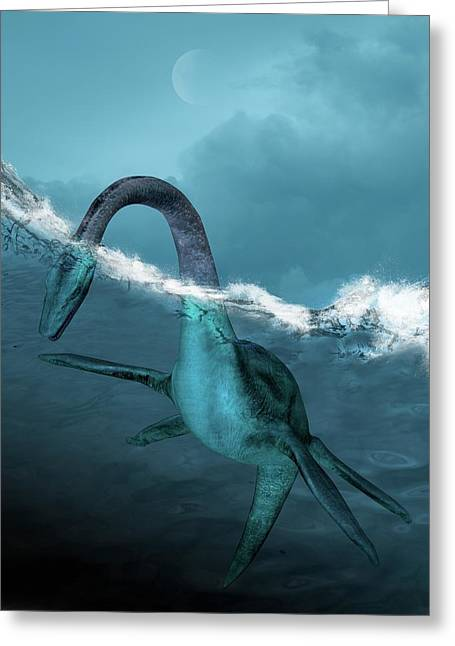 Prehistoric Sea Creature Greeting Card by Victor Habbick Visions