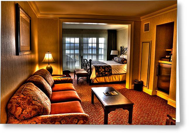 The Lake George Greeting Cards - Premier Balcony Suite at the Sagamore Resort  Greeting Card by David Patterson