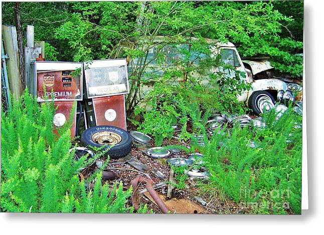 Rusted Cars Greeting Cards - Premium Or Regular Greeting Card by Chuck  Hicks