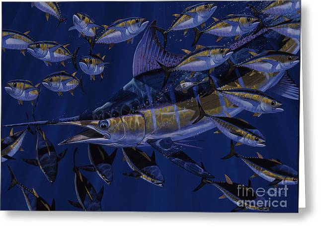 Reef Fish Greeting Cards - Premonition Off0063 Greeting Card by Carey Chen