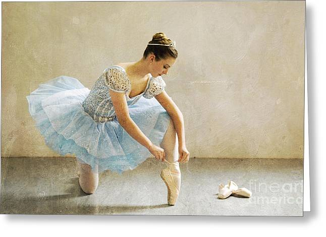 Ballet Dancers Digital Greeting Cards - Preparation for Dance - D008548-a Greeting Card by Daniel Dempster