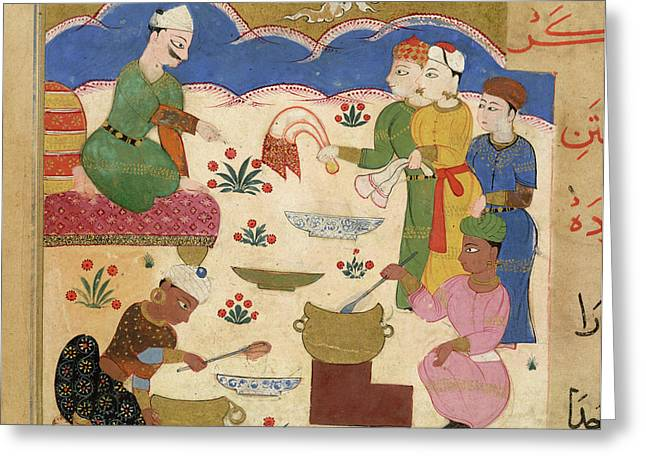 Preparation Of Halwa Greeting Card by British Library