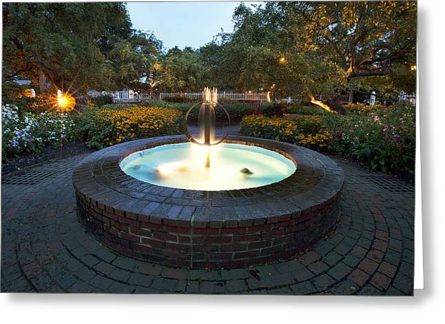 Prescott Greeting Cards - Prescott Fountain Greeting Card by Eric Gendron