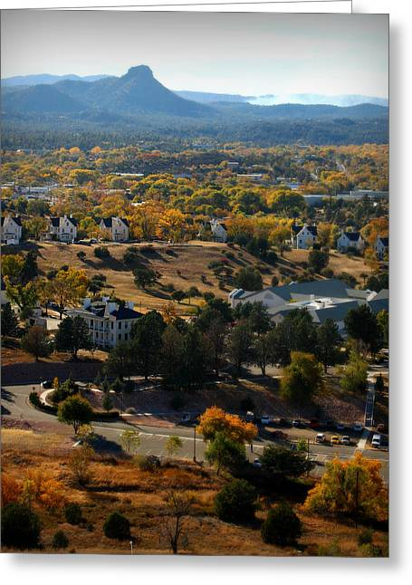 Prescott Greeting Cards - Prescott in Autumn Greeting Card by Aaron Burrows