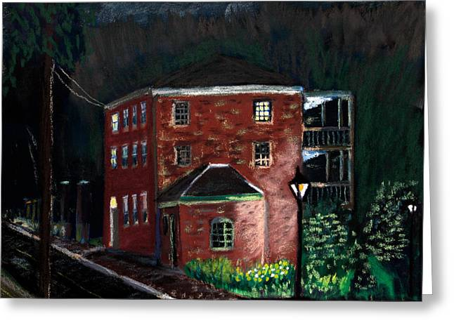 Prescott Greeting Cards - Prescott Park at Night Greeting Card by Francois Lamothe