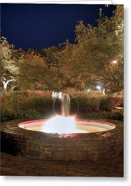 Prescott Greeting Cards - Prescott Park Fountain Greeting Card by Joann Vitali