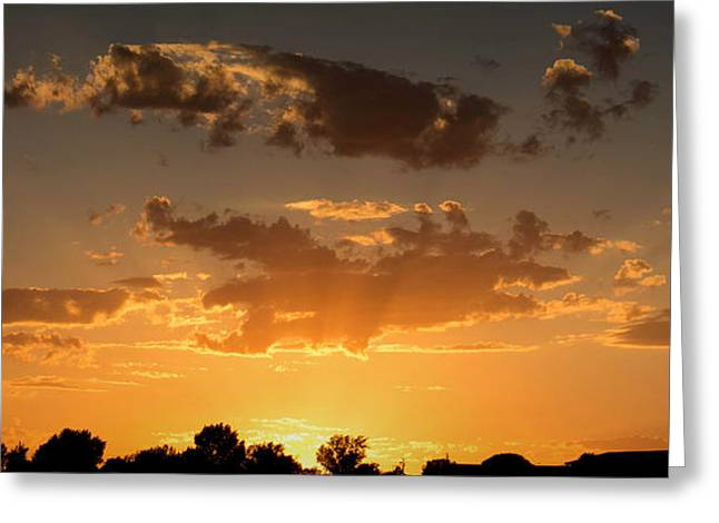 Prescott Greeting Cards - Prescott Sunset Rays Greeting Card by Aaron Burrows