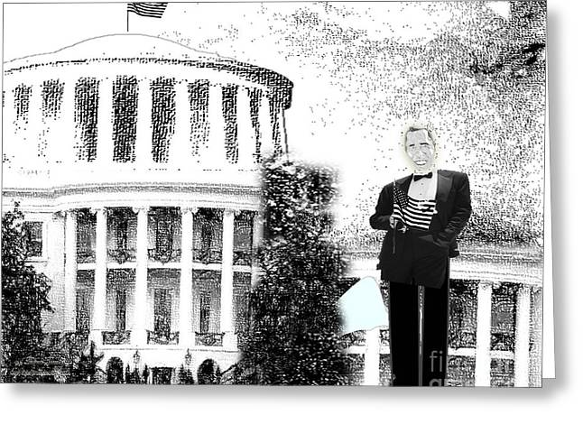 Barrack-obama Greeting Cards - Presidential Greeting Card by Belinda Threeths