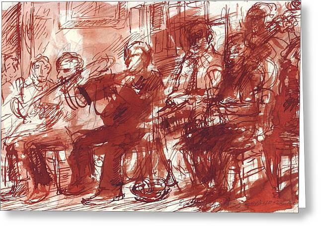 Preservation Hall Band New Orleans  Greeting Card by Edward Ching