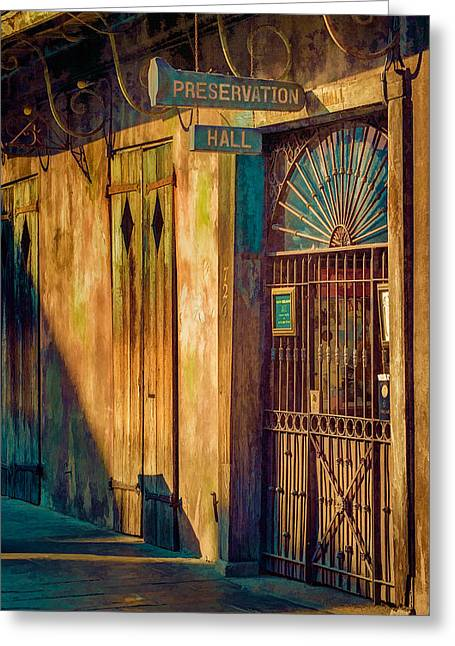 Preservation Hall Greeting Card by Brenda Bryant