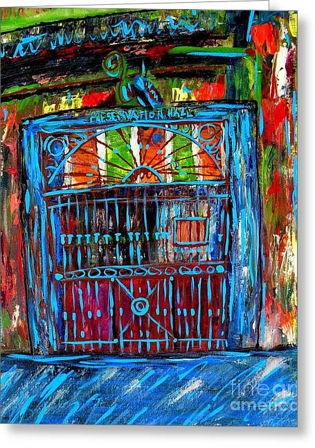 Preservation Greeting Cards - Preservation Hall Greeting Card by JoAnn Wheeler