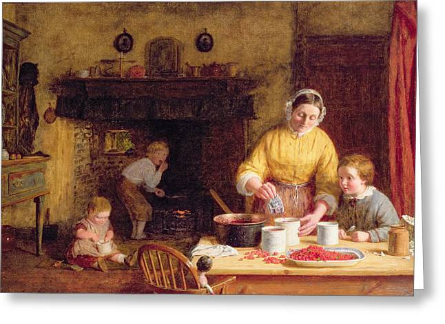 Preserves Greeting Cards - Preserving Jam Greeting Card by Frederick Daniel Hardy