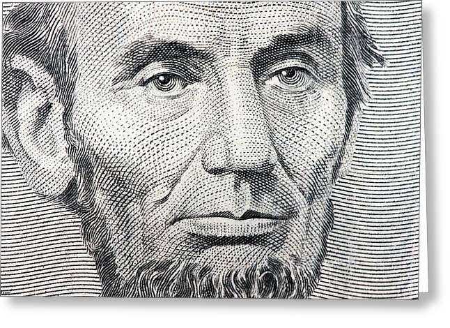 Republican Greeting Cards - President Abraham Lincoln  Greeting Card by MotionAge Designs