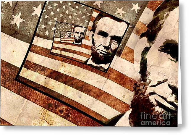 Recently Sold -  - Proclamation Greeting Cards - President Abraham Lincoln Greeting Card by Phil Perkins