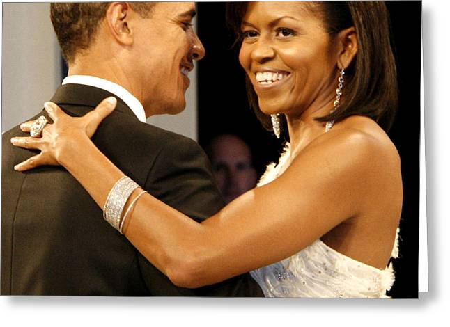 President and Michelle Obama Greeting Card by Official Government Photograph