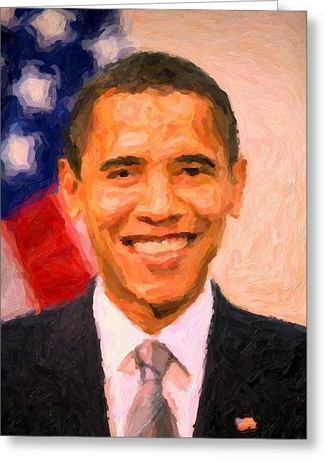 President Barack Obama Greeting Card by Celestial Images