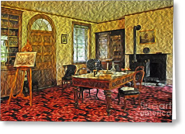 Paint Effect Greeting Cards - President Buchanans Home Office Greeting Card by Paul W Faust -  Impressions of Light