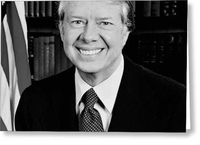 President Jimmy Carter  Greeting Card by War Is Hell Store