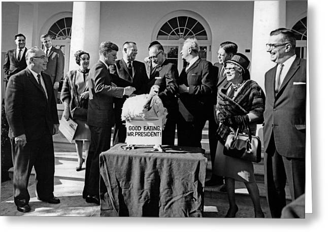 President John F. Kennedy Receives Greeting Card by National Archives