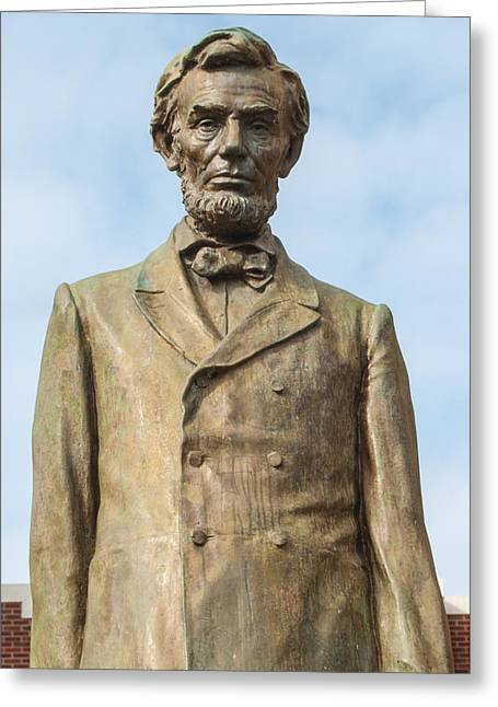 Recently Sold -  - Historic Statue Greeting Cards - President Lincoln Statue Greeting Card by Roger Reeves  and Terrie Heslop