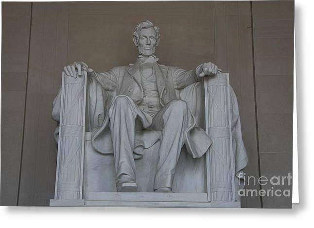 Christiane Schulze Greeting Cards - President Lincoln Statue - Washington DC Greeting Card by Christiane Schulze Art And Photography