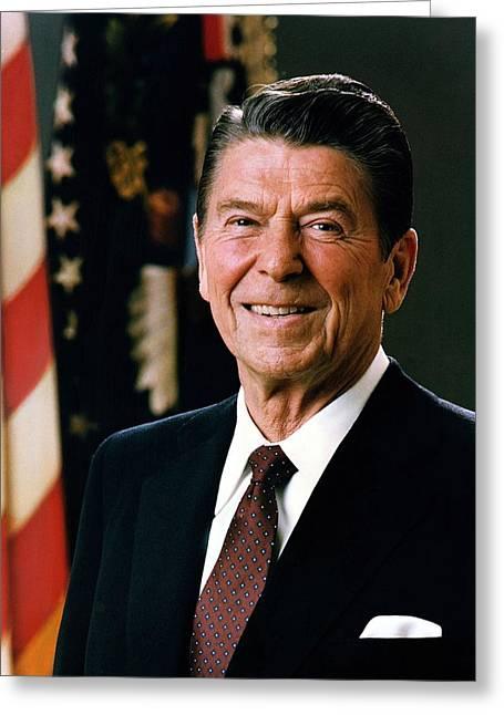 President Ronald Reagan Greeting Card by Mountain Dreams