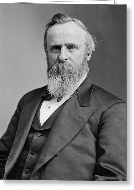 Us History Greeting Cards - President Rutherford Hayes Greeting Card by War Is Hell Store