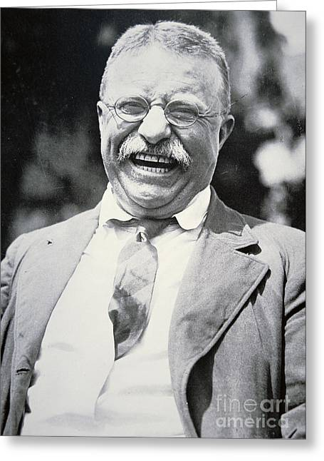 President Of America Photographs Greeting Cards - President Theodore Roosevelt Greeting Card by American Photographer