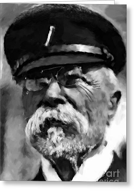 Tablets Drawings Greeting Cards - President Tomas Garrigue Masaryk Greeting Card by Miroslav Tyl