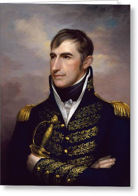 War Of 1812 Greeting Cards - President William Henry Harrison Greeting Card by War Is Hell Store