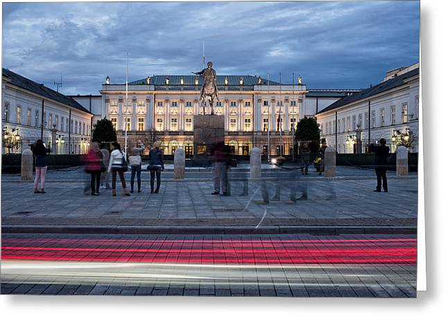 Governmental Greeting Cards - Presidential Palace in Warsaw Greeting Card by Artur Bogacki