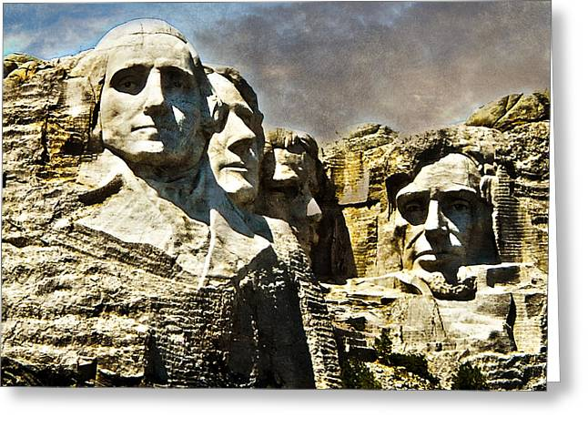 Historical Images Greeting Cards - Presidential Rocks Greeting Card by Judy Hall-Folde