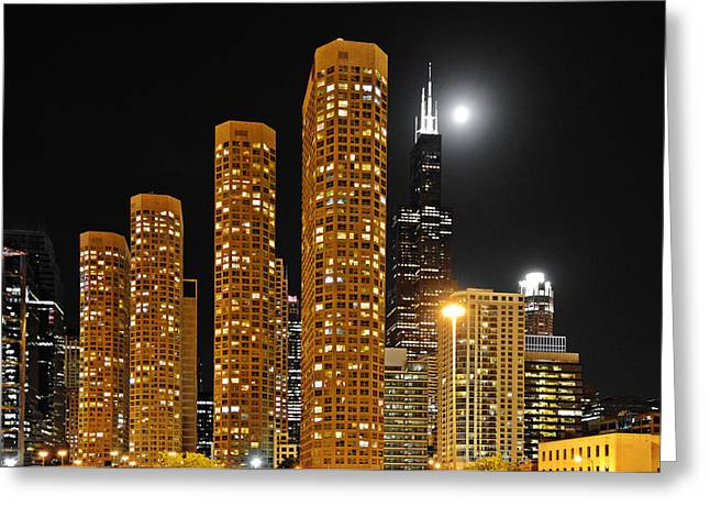 Till Life Greeting Cards - Presidential Towers Chicago Greeting Card by Christine Till