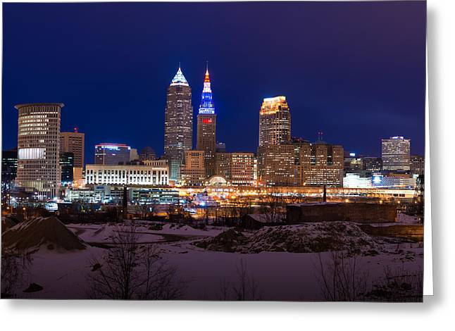 Ohio Red Greeting Cards - Presidents Day in Cleveland 2014 Greeting Card by Clint Buhler