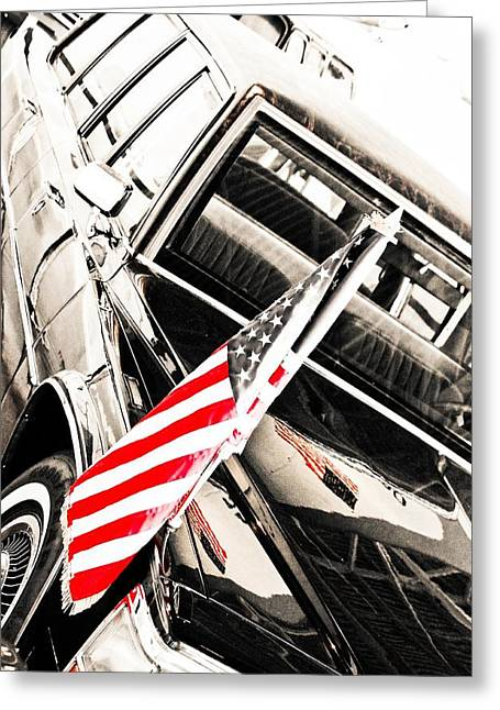 Gipper Greeting Cards - Presidents Limo - Mike Hope Greeting Card by Michael Hope
