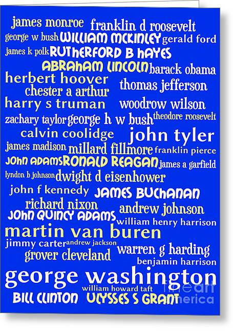 President Obama Pop Art Greeting Cards - Presidents of The United States 20130625 Greeting Card by Wingsdomain Art and Photography