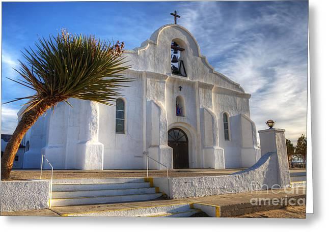 Presidio Chapel San Elizario Texas Greeting Card by Bob Christopher