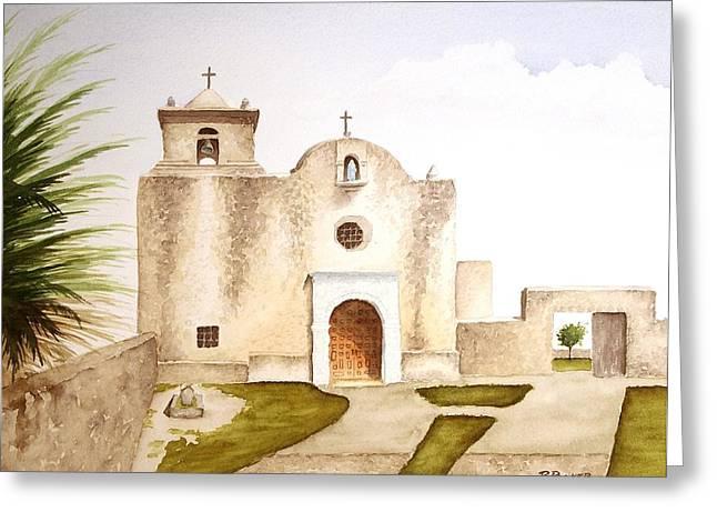 Goliad Texas Greeting Cards - Presidio La Bahia Greeting Card by Richard Rooker