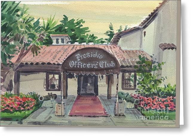 Presidio Officers' Club Greeting Card by Donald Maier