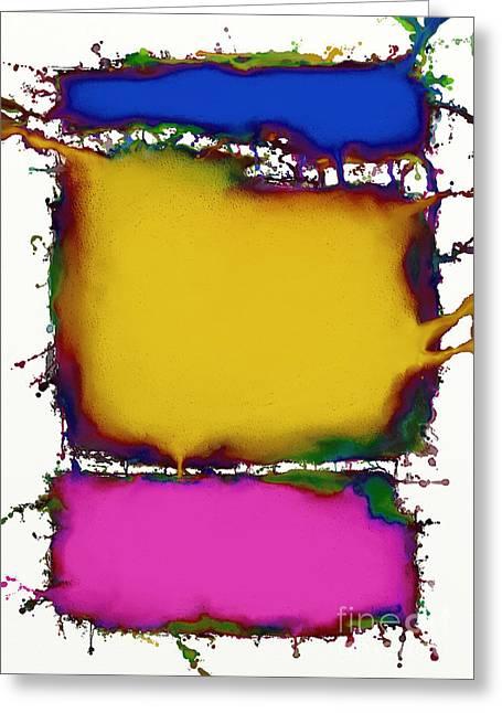 Splashy Digital Greeting Cards - Press 2 Greeting Card by Keith Mills
