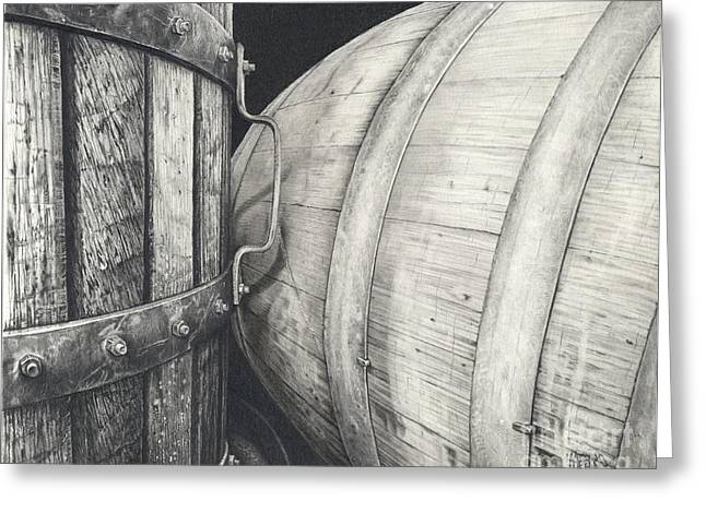 Press To Barrel Greeting Card by Mark Treick