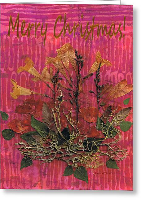 Pressed Flowers Greeting Cards - Pressed Flower Pictures20-2 Greeting Card by Tamara Kulish