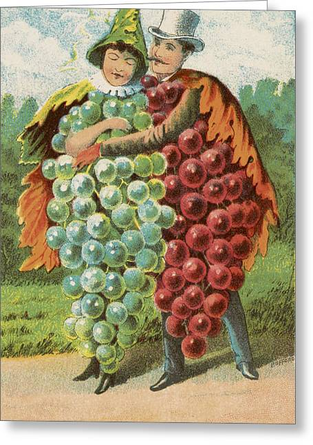 Person Drawings Greeting Cards - Pressed grapes Greeting Card by Aged Pixel