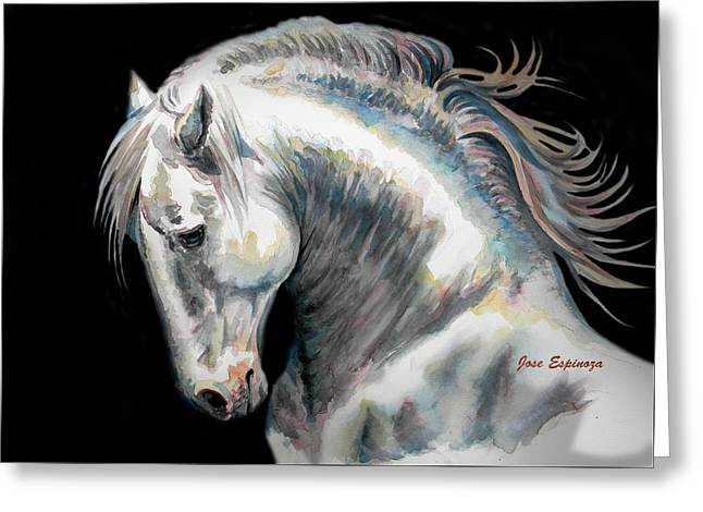 Horse Art Pastels Greeting Cards - Presumtuous Greeting Card by Jose Espinoza