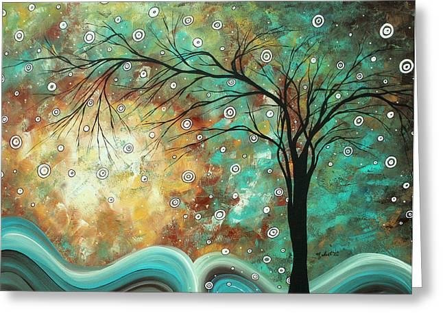 Huge Art Greeting Cards - Pretty as a Picture by MADART Greeting Card by Megan Duncanson