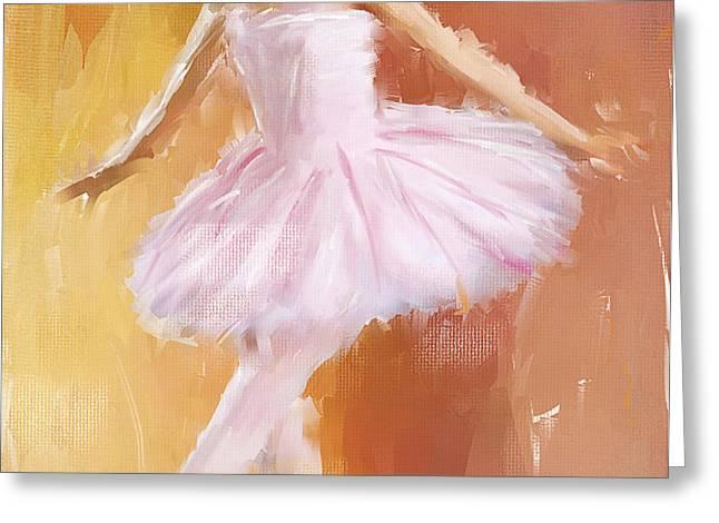 Pretty Ballerina Greeting Card by Lourry Legarde