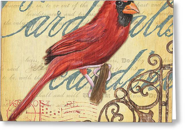 Outdoor Paintings Greeting Cards - Pretty Bird 1 Greeting Card by Debbie DeWitt