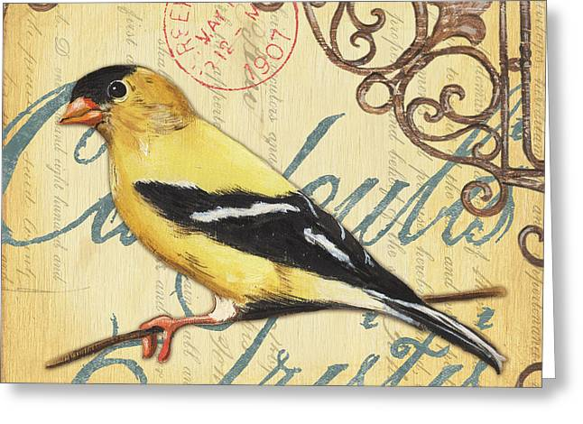 Outdoor Paintings Greeting Cards - Pretty Bird 3 Greeting Card by Debbie DeWitt