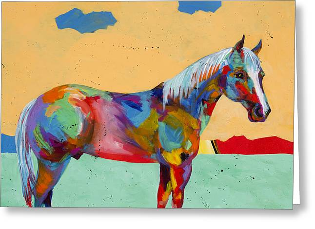 Equine Artist Greeting Cards - Pretty Boy Greeting Card by Tracy Miller