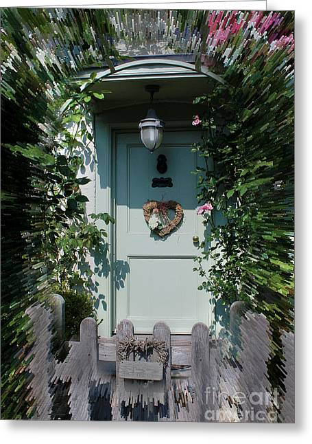 Terri Waters Greeting Cards - Pretty Door in Nether Wallop Greeting Card by Terri  Waters